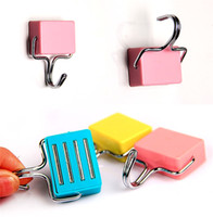 Wholesale Magnetic Fridge Key Holder - Magic Magnetic Hook Wall Mounted Metal surface for Fridge Microwave-absorbing Strong Magnet Hooks Hanging Towels Key Rack Holder
