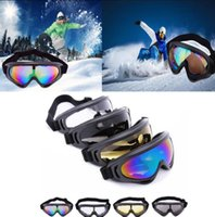 Wholesale snow ski goggles online - Men s Anti fog Motocross Motorcycle Goggles Off Road Auto Racing Mask Glasses Sunglesses Snow Ski Goggles KKA4533