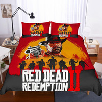 Wholesale boys full size bedding for sale - Boys Bedding sets Red Dead Redemption Cover Set Sheets quilt Pillowcase Full King Queen Twin kids Size Bedding Set Boys Room Bedding Set