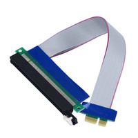 pci e 1x riser-karten-extender großhandel-Kostenloser versand PCI-E Express 1x zu 16x Verlängerung Flex Kabel Extender Konverter Riser Karte Adapter 20 cm