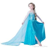 trajes da rainha venda por atacado-Vestido da menina do inverno verão bebê meninas da criança roupas de natal vestidos de festa da rainha da neve traje de festa crianças roupas