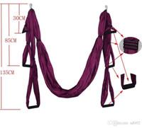 ingrosso facile swing-Amache colorate antigravitazionali Air Flying Yoga Hammock Alta densità Piccolo Taffeta Fitness Swing Easy Carry 75 5sh BB