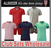 Wholesale Factory product only for wholesaler lowest price club soccer blank uniforms RM JUVEN MAN UNITED BAR CELO NA PAR IS SOCCER JERSEYS