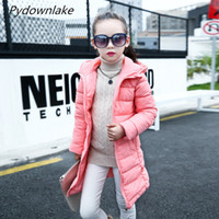Wholesale girls cute down jackets resale online - 2019 New Direct Selling Down Coat Fashion Girl Winter Cotton Jackets Coats Warm Baby Thick Down Kids Jacket Children Outerwears for Cold