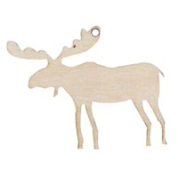 Wholesale Carving Candles - 10pcs Carved wood crafts Christmas elk wood chips home Christmas tree ornaments small pendant