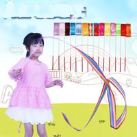 Wholesale Electric Shows - Artistic Gymnastics Silk Ribbon Art Kindergarten Dance Children Kid Toy Perform Ribbon Prop Stage Show Mix Colour Hot Sale 1 6qg V