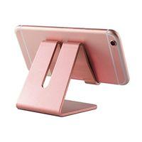 yeni zte telefonlar toptan satış-Evrensel Alüminyum Metal Cep Telefonu Tablet Tutucu Danışma Standı iPhone 7 için Artı Samsung s8 artı Perakende paketi ile ZTE Max XL Yeni Sıcak