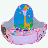 ingrosso scherma animale-Cartoon Animal 1.2M Shoot Basket Bambini Ocean Balls Game Pool Portable Baby Activity Playpens Fence Safety Gioca Baby Playard