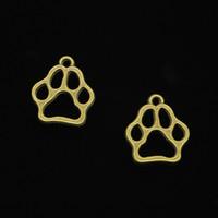 encantos da pata de urso venda por atacado-117 pcs liga de zinco encantos antigo bronze chapeado cão urso pata encantos para fazer jóias diy handmade pingentes 19 * 17mm