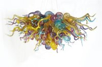 Wholesale Cheap Ceiling Chandeliers - Colorful Cheap Price Fancy Honey Small Ceiling Chandelier LED Bulbs Hand Blown Glass Chihuly Chandelier Lamps
