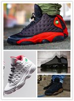 Wholesale Athletic Shoes History - Retro 13s Real Carbon Fiber free DHL Olive Bred 3M Reflect History of Flight Black Cat Navy Blue Mens Basketball Shoes Box Athletic Sneakers