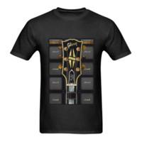 gitarren les großhandel-gibson-les-paul-gitarre- T-Shirt Größe-S bis 5XL Sommer Heißer Verkauf neue T-Shirt Druck Männer T-Shirt Top 100% Baumwolle lässig kurz