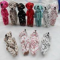 ce teddy großhandel-25Pcs / Lot Mini Joint Teddybär Plüschtiere DIY 4.5cm Tier Hochzeit Geschenke für Kinder Teddy-Bären kreativen Schmuck Zubehör 106