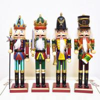 ingrosso cinesi figure animali-Natale in legno decorazione domestica 30cm Schiaccianoci Puppet Soldiers per Natale Ornamenti creativi e Feative e Parrty regalo di Natale