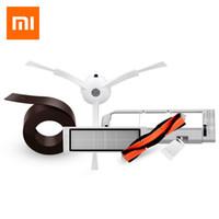 fırça robotları toptan satış-Orijinal Ekonomik 5 ADET Xiaomi Mi Robot Set Vakum Akıllı Temizleyici Aksesuarları Görünmez Duvar Yan Fırçalar Filtre Rolling Bush