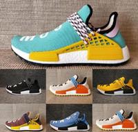 Wholesale Glow Dark Sun - 2017 NMD Human Race Trail Running Shoes core black noble ink sun glow black yellow Ultra boost men women Trainers Sneakers Size 36-47
