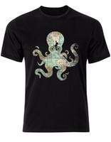 mens bicycle shorts 2018 - Vintage Map Octopus Bicycle Retro Gentleman Hat Texture Mens Tshirt Top AL85 Mens 2018 fashion Brand T Shirt O-Neck 100%cotton