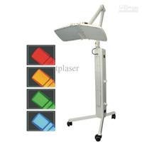 luces de belleza led azul rojo al por mayor-¡CALIENTE! La máquina de belleza para terapia de luz PDT LED con luces ROJAS / AZULES / AMARILLAS / VERDES de gran potencia LED