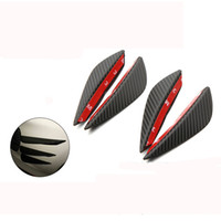 Wholesale Universal Spoilers - Car Styling 4PCS Universal Fit Front Bumper Lip Splitter Fins Body Spoiler Canards Valence Chin For Subaru Mercedes W204 Bmw E46