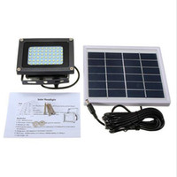 Wholesale 3w solar panel - Solar power spotlight 54LED Outdoor Solar Floodlight from Dusk to Dawn with Wall Mounted Brackets Adjustable Light Fixture 3W panel lighting