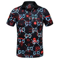 Wholesale puff styles - 2018 men listed on the new luxury fashion leisure business short sleeve T-shirt brand style in summer 777
