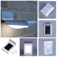 led wall lights à vendre achat en gros de-LED solaire lumière détecteur de mouvement 16 LED blanc froid extérieur lampe LED Applique murale Lampe de jardin sur les ventes