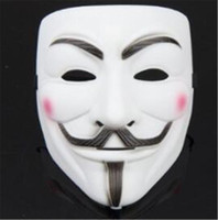 Wholesale Vendetta Mask White - New V Word Vendetta Mask Guy Fox Halloween Costume Clothing White Anonymous Mask Fast Free Shopping