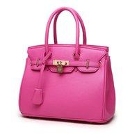 yeni model omuz çantaları toptan satış-Bayan modelleri paket 2018 yeni fermuarlı çanta Avrupa ve Amerika Birleşik Devletleri çanta Litchi desen platin paketi çapraz omuz ...
