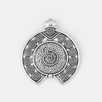 ingrosso gioielli di fascino-1pcs argento antico grande pendenti ciondolo martellato gioielli fai da te fare ricerca