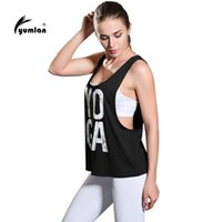 Wholesale Ladies Color Pink Yoga Pants - Yumlan Women Yoga Tank Tops Words Active Sports Running Fitness Sleeveless Shirts Ladies Workout Shirt Sports Vest
