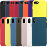 Wholesale candy case silicone - Official Original Liquid Silicone Candy Gel Rubber Soft Microfiber Cloth Lining Cushion Cover Case For iPhone X Plus S Retail Box