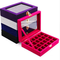 Wholesale plastic divided resale online - Transparent Plastic Divided Storage Box Grid Jewelry Rhinestone Bead Case Decoration Accessories Container Holder