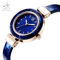 Wholesale clock chain bracelet resale online - Shengke Luxury Women Bracelet Watches Charming Chain SK Watch Women Top Brand Women s Watches Clock reloj mujer