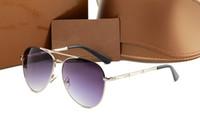 rahmen bambus großhandel-Designer Sonnenbrillen Marke Brillen Outdoor Shades Bambus Form PC Rahmen Klassische Dame Luxus Sonnenbrille für Frauen mit Box