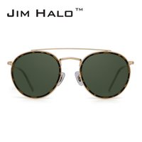 Wholesale circle lens sunglasses - Jim Halo Retro Steampunk Polarized Sunglasses Women Men Metal Frame Mirrored Oval Round Circle Lens Oculos De Sol Gafas Vintage Sun Glasses