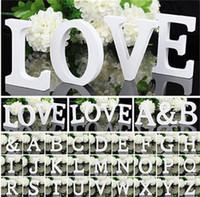ingrosso lettere di legno z-1 pz 10.5 * 10 * 1.2 cm Home Decor Decorazione di Legno Spessore Lettere Bianche Alfabeto Per Matrimonio Festa Di Compleanno Puntelli Vendita Calda 1 2zn Z