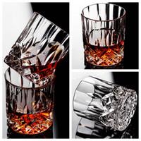 ingrosso tazze di birra del cranio pirata-Creativo di vetro di cristallo Whisky Glass senza piombo tazza di liquore di vino straniero cocktail Diamond Water Cup casa