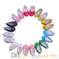 Wholesale Sparkling Shoes Flash Powder Shoes Dress Glitter Shoe for inch Our Generation American Girl Doll Gift DHG2265