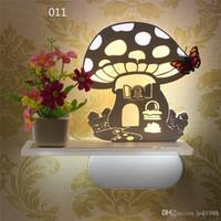 Wholesale Bonsai Wall - Bonsai potted garden wind aisle led wall lamp bedside decorative night lights Indoor Lighting thin acrylic wall light