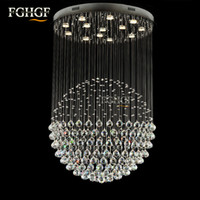 Wholesale Luxury Chandeliers For Dining Rooms - Round Shape Lamp Luxury Modern Crystal Chandelier Light Lustres Hall Cristal Lamp Home Lighting for Flush Mounted Lights