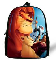 a9f3aaf21dbe6 12 pouces Simba Le Roi Lion Sac à dos Enfants Garçons de Bande Dessinée Le  Roi Lion École Sacs Enfants Filles Préscolaire Bébé Maternelle Sac