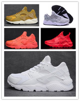 Wholesale ii online - 2018 Cheap Air Huarache 1 2 II Ultra Classical all White Black Huaraches Shoes Men Women Sneakers Running Shoes Size 36-45 online sale