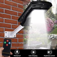 Wholesale waterproof solar controller resale online - New PIR Motion Sensor W Solar LED Street Light Waterproof Outdoor Solar Panel Lighting With Remote Controller ARM
