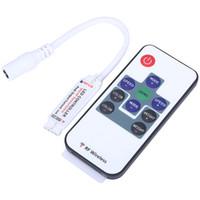 interruptor de control inalámbrico al por mayor-DC5-24V Mini 10key RF Controlador de interruptor remoto inalámbrico con Mini LED Dimmer para cinta flexible RGB 5050 3528 LED luz de tira