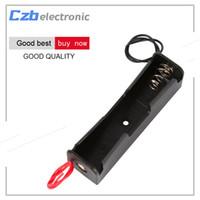 titular venda por atacado-10 pcs 3.7 v 18650 bateria titular li-po li-ion bateria caso soquete clip box preto