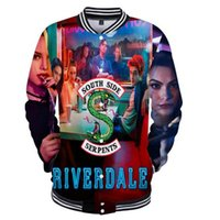 casacos de baseball 3d venda por atacado-2018 Riverdale 3D Imprimir southside Mulheres / Homens Jaqueta de Beisebol Moletons Linda Primavera Anime Mulheres Casacos de Impressão Jaqueta Engraçada