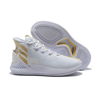 check out 3f168 acf91 Adidas New Arrival D Rose 9 Basketball Shoes Men Boosts High Quality Mens Derrick  Rose Shoes 9 White Boost Sports Sneakers Size US7-11.5