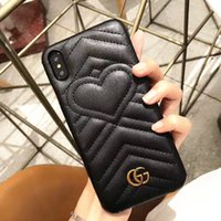 Wholesale luxurious iphone cases online – custom Designer Top Luxury Phone Case for iPhone X XR XS Max Luxurious Emerald Green Classic Style Leather Phone Case for iPhone Plus