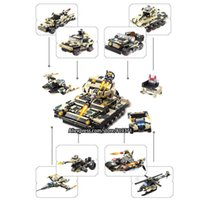 Wholesale Military Aircraft Toys - 12 in 1 Technic Warships Tank Aircraft Military Bricks Building Blocks Toys For Kids Lepin Compatible with legoeINGlys 13019