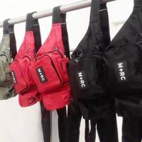 Wholesale jogging chest pack - Brand New M+RC NOIR RR Waistbag Cross Body Waist Bag Pack Chest Pack Unisex Fanny Pack Waist Bag Men Canvas Waterproof Messenger Bags